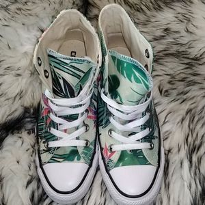 Converse Chuck Taylor High Tops Tropical Print